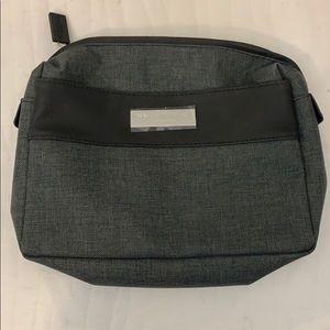 Issue Miyake makeup bag grey and black